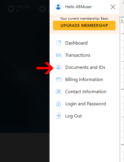 autobidmaster dropdown menu