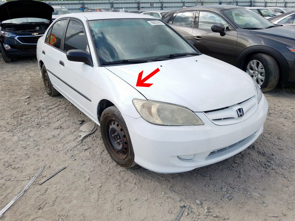 panel gaps in online auto auction photos