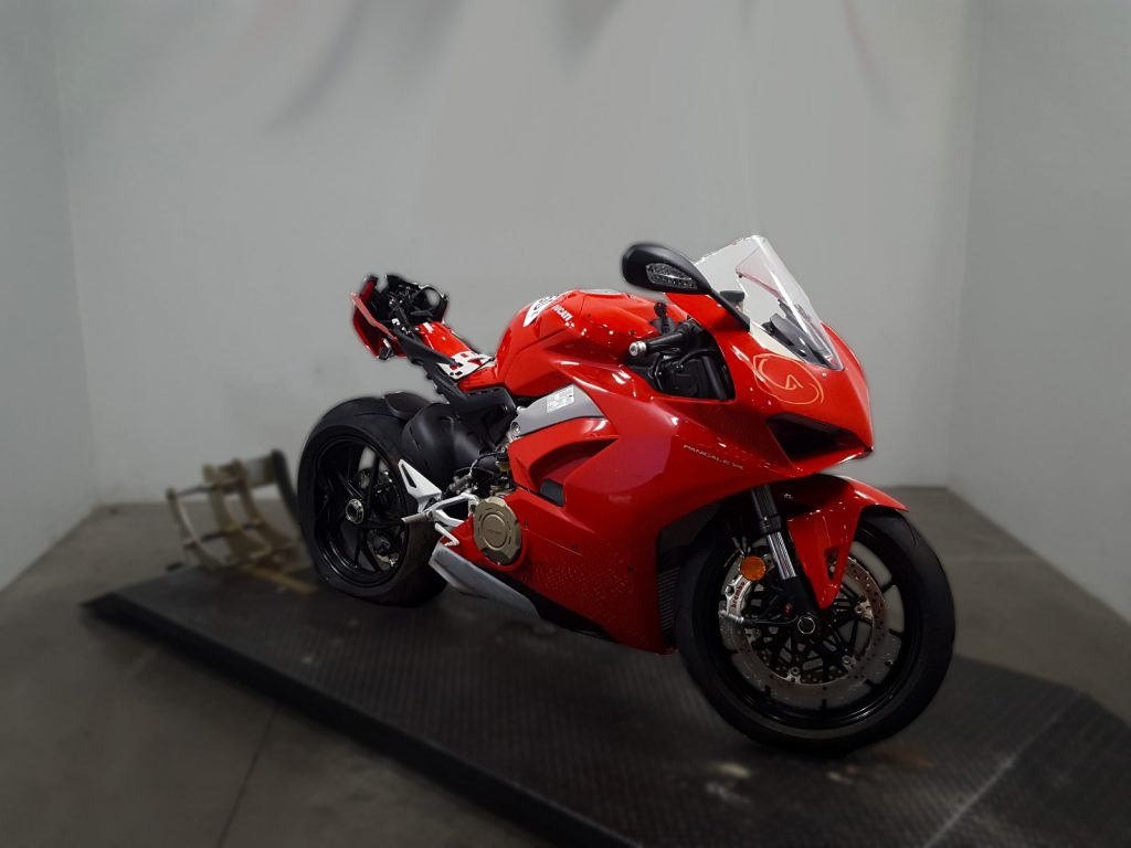 totaled motorcyles salvage ducati panigale v4